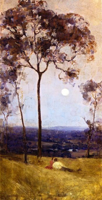 Above Us the Great Grave Sky | Sir Arthur Streeton | oil painting