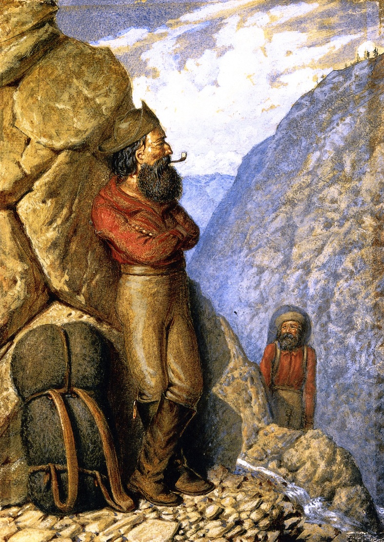 Miners in the Leather Pass Rocky Mountains | William George Richardson Hind | oil painting