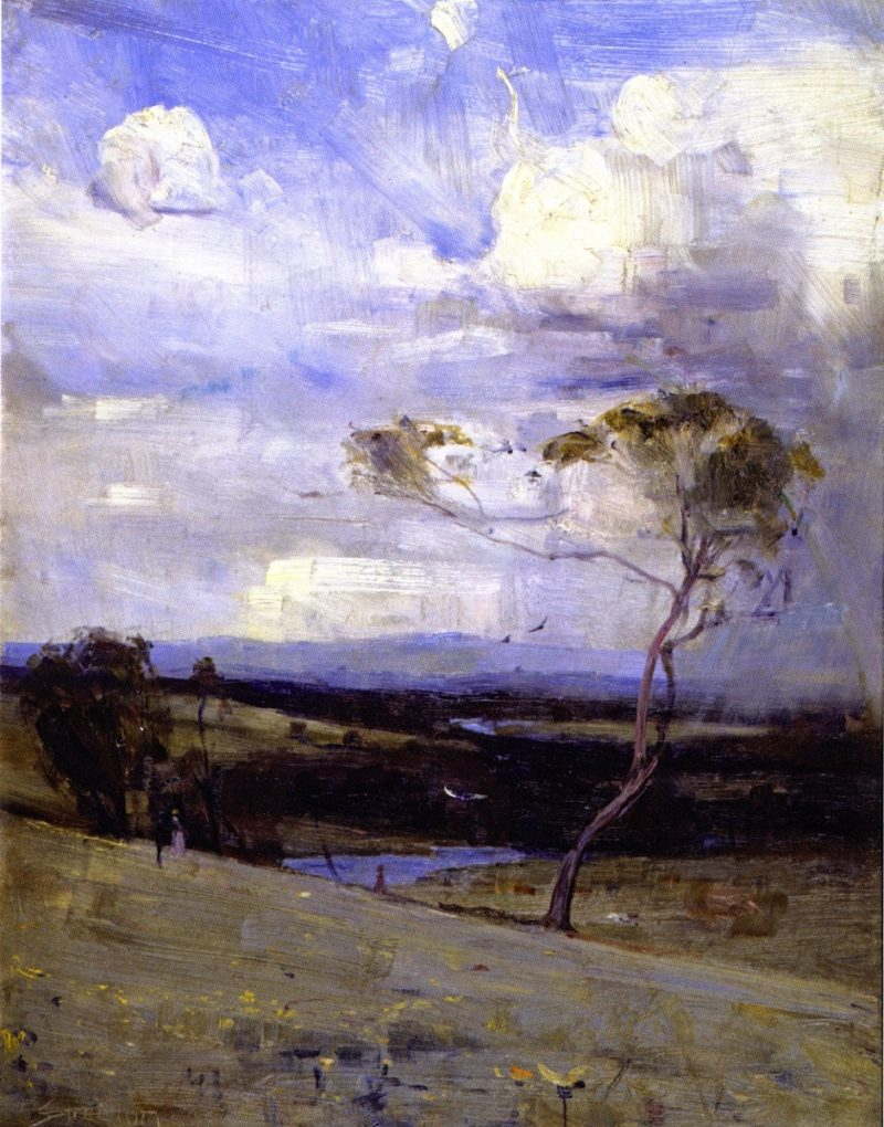 Approaching Storm | Sir Arthur Streeton | oil painting