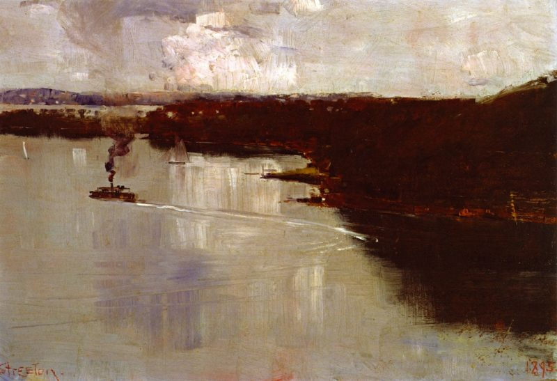 At Coogee   Sir Arthur Streeton   oil painting