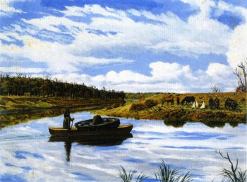 Manitoba River Scene | William George Richardson Hind | oil painting
