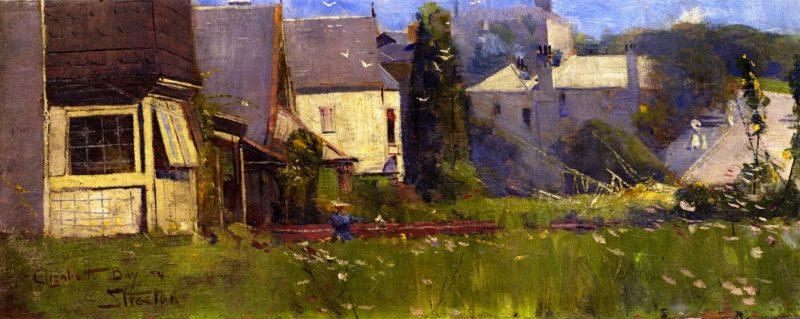 At Elizabeth Bay   Sir Arthur Streeton   oil painting