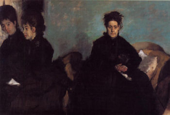 The Duchess di Montajesi with Her Daughters Elena and Camille 1876 Edgar Degas