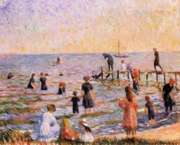 Bathing at Bellport Long Island | William James Glackens | oil painting