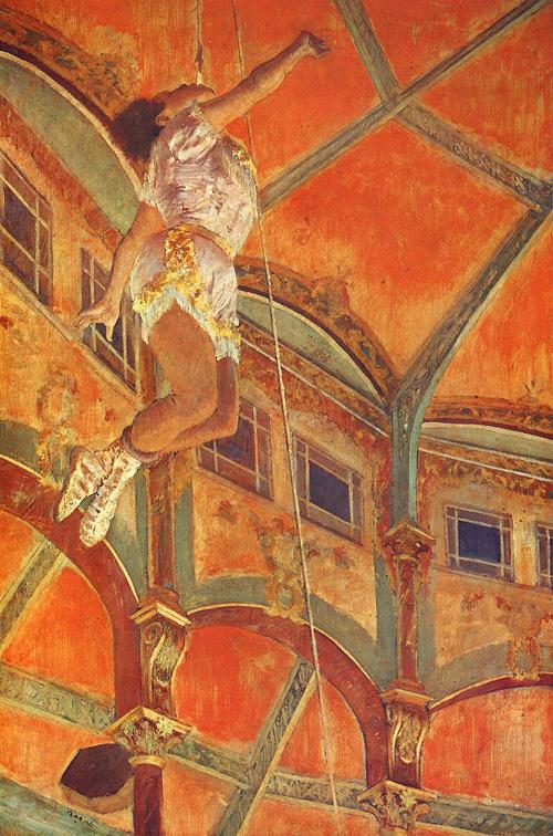 La La at the Cirque Fernando Paris 1879 Edgar Degas