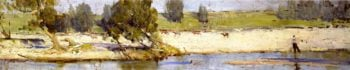Banks of the Hawkesbury | Sir Arthur Streeton | oil painting