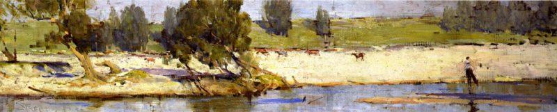 Banks of the Hawkesbury | Sir Arthur Streeton | oil painting