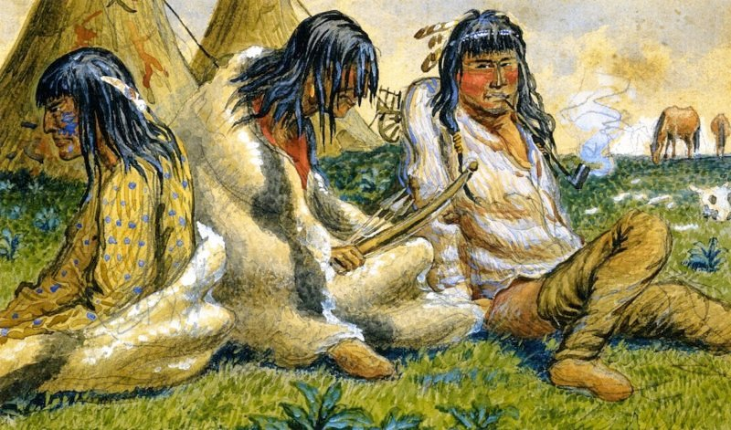 Indians on the Prairie | William George Richardson Hind | oil painting