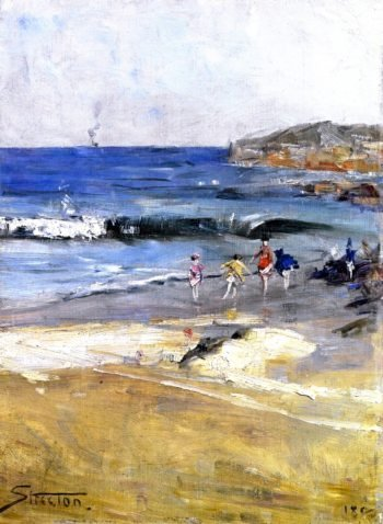 Beach Scene | Sir Arthur Streeton | oil painting