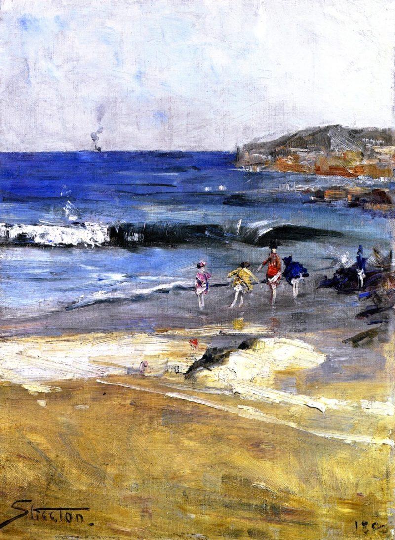 Beach Scene | Sir Arthur Streeton | oil painting
