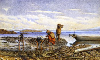 Indians Gathering Shellfish Victoria Island | William George Richardson Hind | oil painting