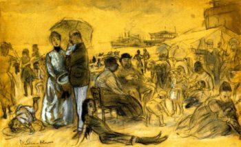 Coney Island | William James Glackens | oil painting