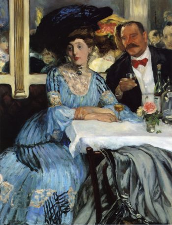 Chez Mouquin | William James Glackens | oil painting