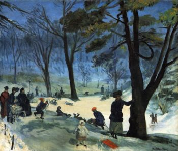 Central Park in Winter | William James Glackens | oil painting