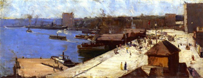 Circular Quay | Sir Arthur Streeton | oil painting