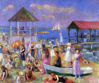 Beach Scene New London | William James Glackens | oil painting