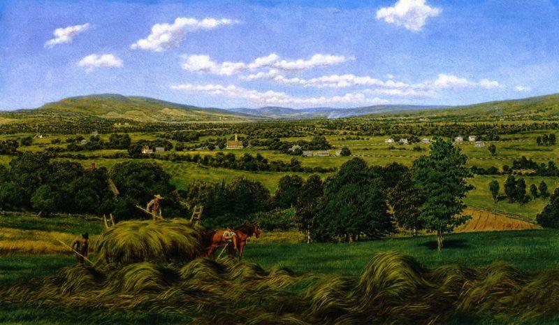Harvesting the Hay Sussex N B | William George Richardson Hind | oil painting