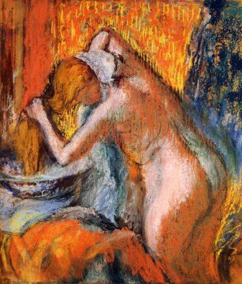 After the Bath Woman Drying Her Hair 1903 Edgar Degas