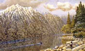 Fraser River Loon | William George Richardson Hind | oil painting