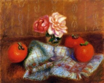 Roses and Perimmons | William James Glackens | oil painting