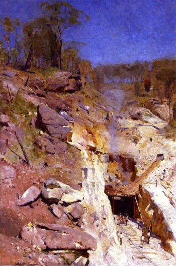 Fire's On | Sir Arthur Streeton | oil painting