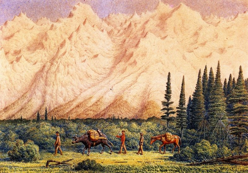 Foot of Rocky Mountains | William George Richardson Hind | oil painting