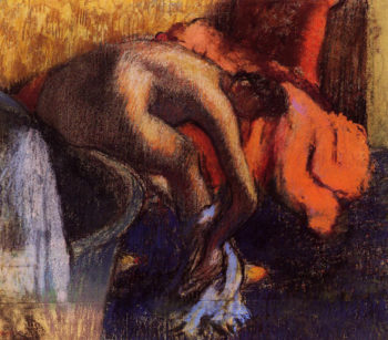 After Bathing Woman Drying Her Leg Edgar Degas