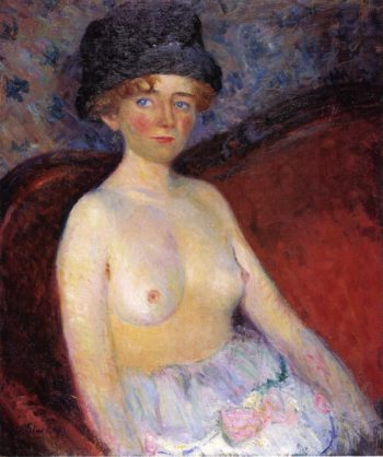 Nude with Hat | William James Glackens | oil painting