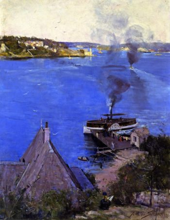From McMahon's Point Fare One Penny | Sir Arthur Streeton | oil painting