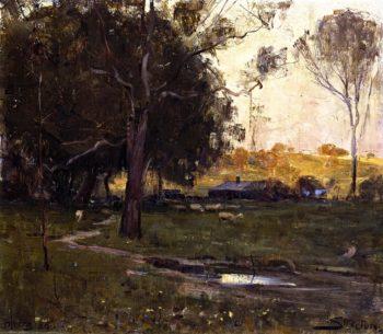Greeve's Farm Heidelberg | Sir Arthur Streeton | oil painting