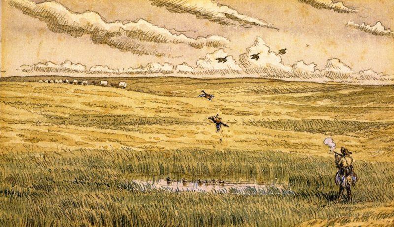 Duck Shooting near Oak Lake Manitiba | William George Richardson Hind | oil painting