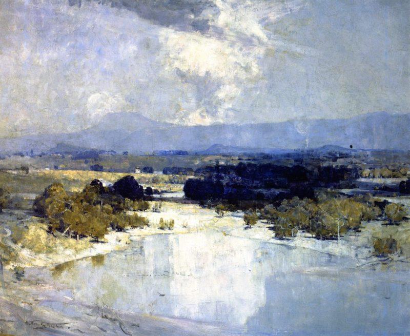 Hawkesbury River   Sir Arthur Streeton   oil painting