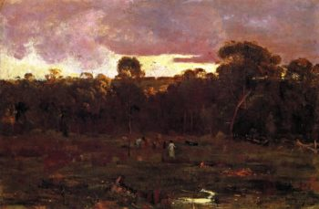 June Evening Box Hill | Sir Arthur Streeton | oil painting