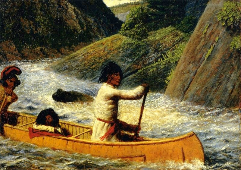 Domenique Squaw and Child   William George Richardson Hind   oil painting