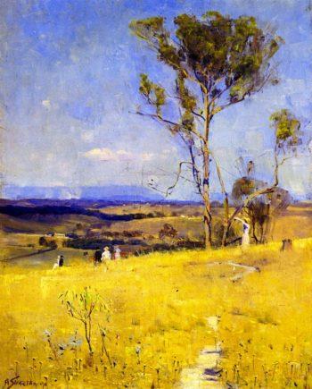 Near Heidelberg | Sir Arthur Streeton | oil painting