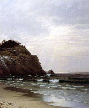 Cloudy Day, Great Head 1871 Alfred Thompson Bricher