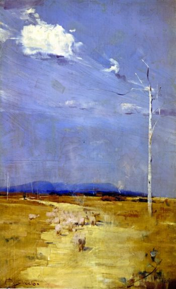 Oncoming Storm   Sir Arthur Streeton   oil painting