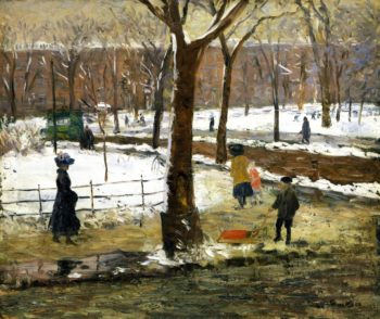 Washington Square Winter | William James Glackens | oil painting