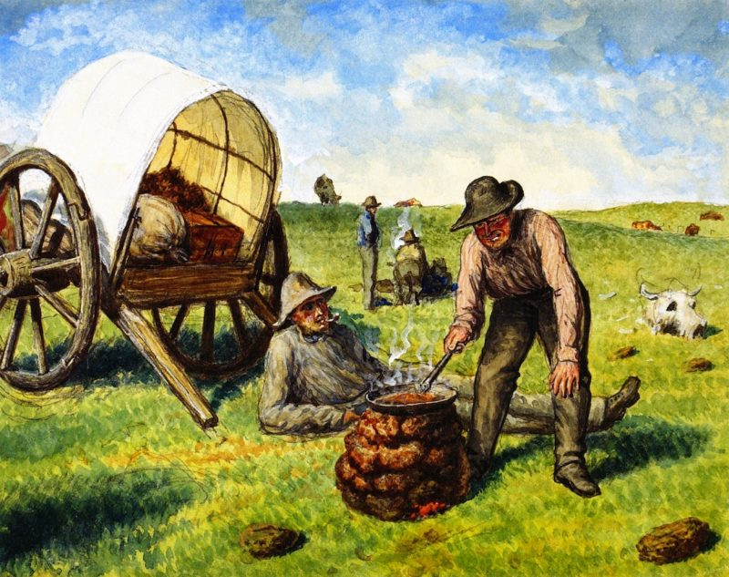 Camping on the Prairie | William George Richardson Hind | oil painting