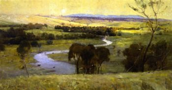 Still glides the stream and shall for ever glide | Sir Arthur Streeton | oil painting