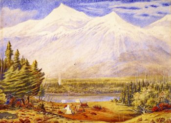 Athabaska Pass Mount Murchison | William George Richardson Hind | oil painting