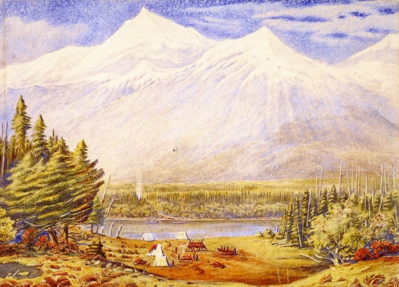 Athabaska Pass Mount Murchison   William George Richardson Hind   oil painting