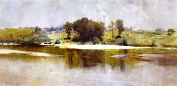 Summer Noon Hawkesbury River | Sir Arthur Streeton | oil painting