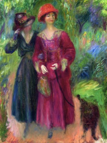 A Stroll in the Park | William James Glackens | oil painting