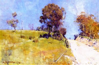 Sunlight | Sir Arthur Streeton | oil painting