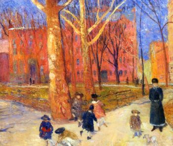 29 Washington Square | William James Glackens | oil painting