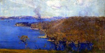 Sydney from the Artist's Camp | Sir Arthur Streeton | oil painting