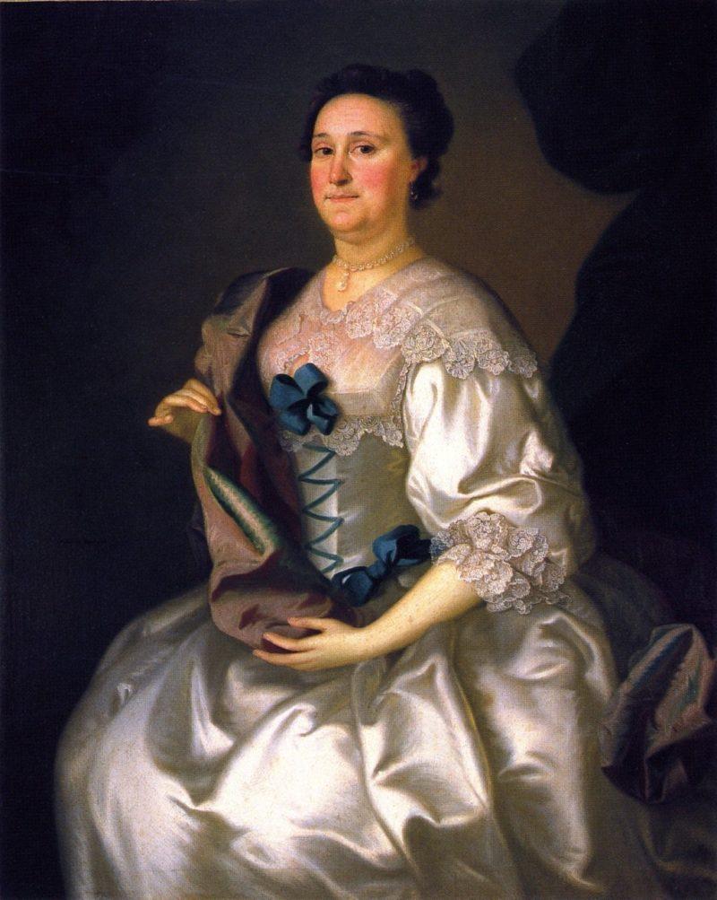 Mrs Gillam Phillips   Joseph Blackburn   oil painting