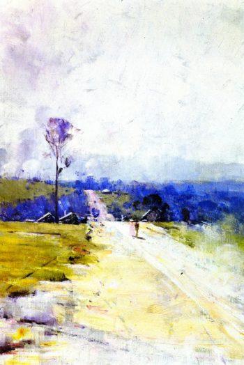 The Australian Road | Sir Arthur Streeton | oil painting