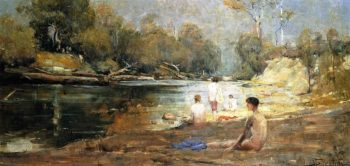 The Bathers | Sir Arthur Streeton | oil painting